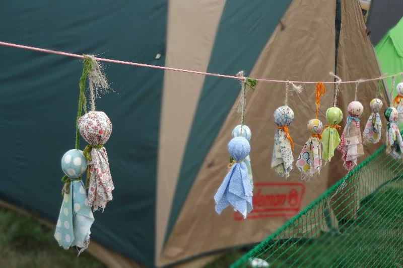 キャンプ雨対策